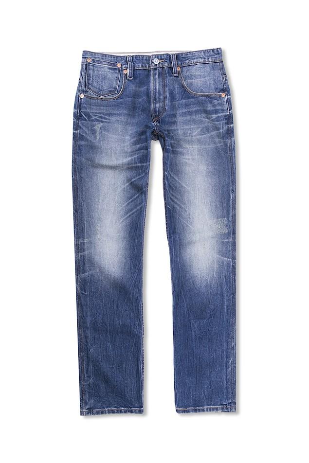 THERMOLITE系列 504標準直筒丹寧褲-經典刷白