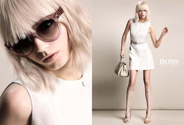 BOSS 2015年春夏女裝廣告形象照_著名女演員兼超模艾比‧麗‧科肖(Abbey Lee Kershaw)