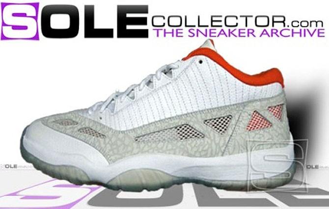 "Air Jordan 11 IE ""White/Grey-Orange""2007年"