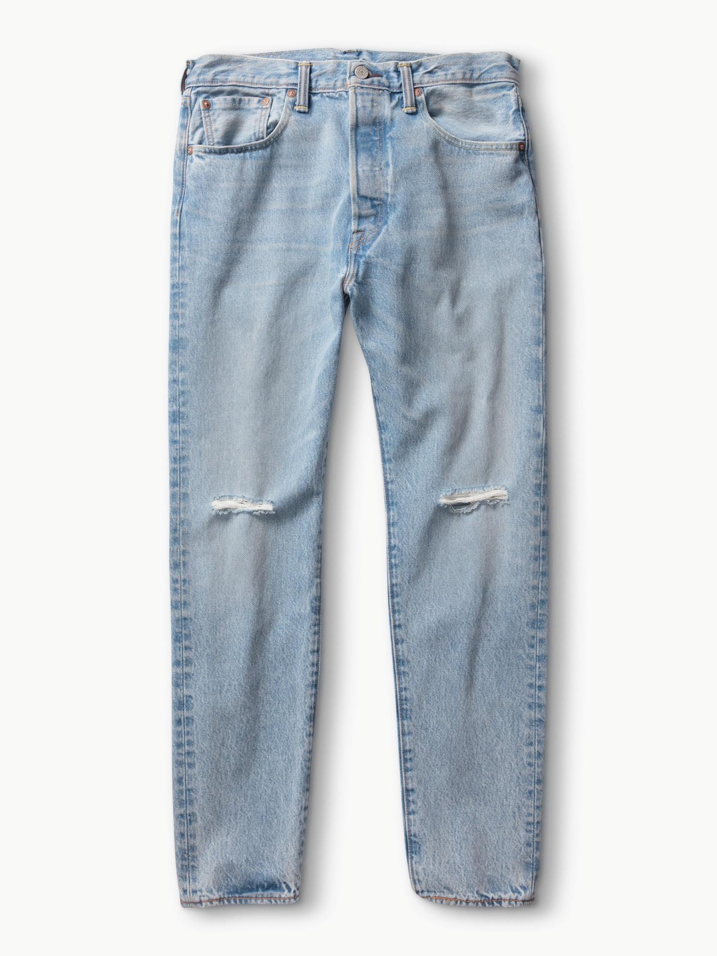 男款501CT經典窄管丹寧褲(率性湛藍)