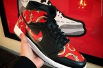 "Supreme x Air Jordan 1 Mid ""Red Supreme"""