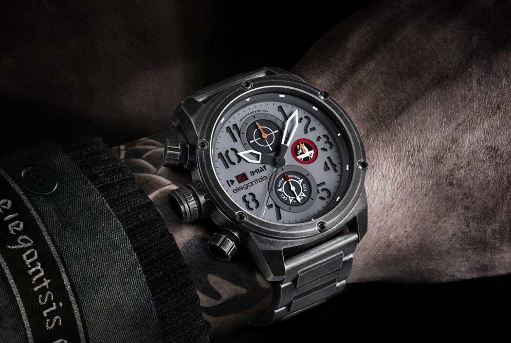 JF48D-D-DAY德軍腕錶配戴