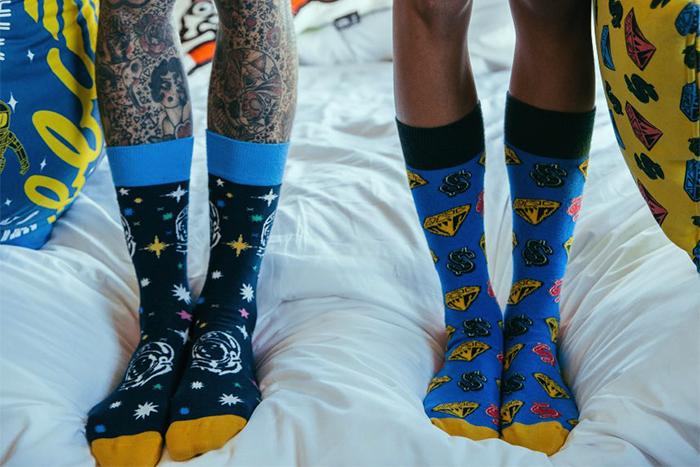 2015 Happy Socks X Billionaire Boys Club_Happy Socks 與奢華嘻哈潮流品牌  聯手打造動感太空迷幻街頭魅力_S