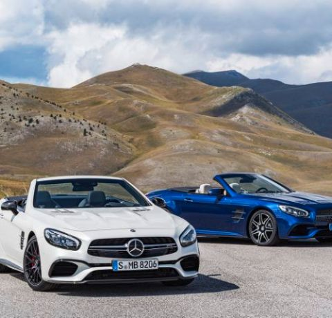 AMG SL 63 (Diamantweiß), SL 500 (Brilliantblau)
