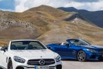 AMG SL 63 (Diamantweiß), SL 500 (Brilliantblau)AMG SL 63 (diamond white), SL 500 (brilliant blue)