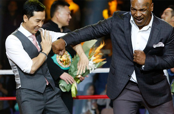 Donnie Yen and Mike Tyson