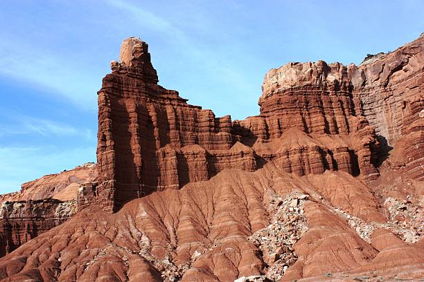 Chimney Rock in Capitol Reef National Park, Utah USA
