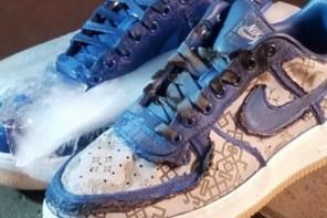 CLOT x Nike Air Force 1 藍絲綢的外觀下竟然是長這樣?!