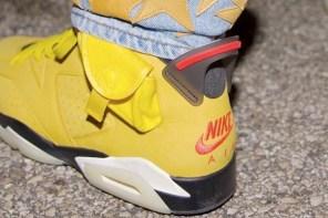 Travis Scott x Air Jordan 6 還沒結束!清新黃色登場!