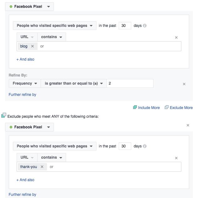 website custom audience facebook