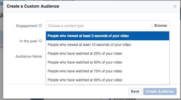 video view retargeting audience facebook