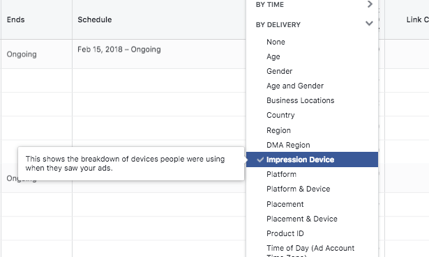 Facebook Device Breakdown