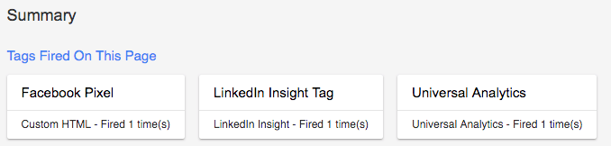 GTM Preview Mode LinkedIn Insights Pixel