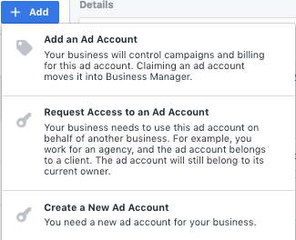Connecting Ad Accounts to Facebook Business Manager