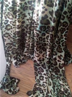 turq leopard print jersey