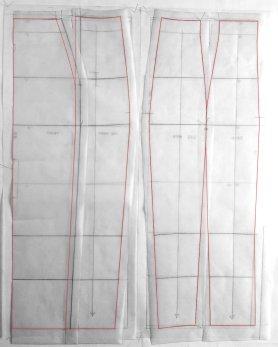Self-drafted Teal + Brown Floral Print Reversible Pencil Skirt pattern