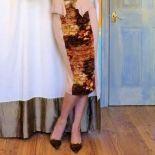 Burda 2011-08-121 Ruched Panel Pencil Python Skirt