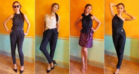 Altered RTW Halter Top + Sash + Style Arc Antoinette Trousers