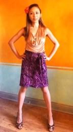 Altered RTW A-line Skirt + Sash