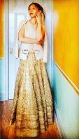 Altered Samyakk/Gajiwara Saree Lehenga Skirt