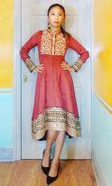Self-drafted Nakkashi 11042 Anarkali Tunic / Dress