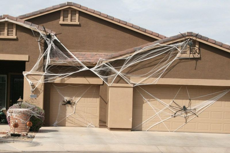 7 Spooktacular Halloween Garage Door Decorating Ideas ... on Garage Decoration  id=94613