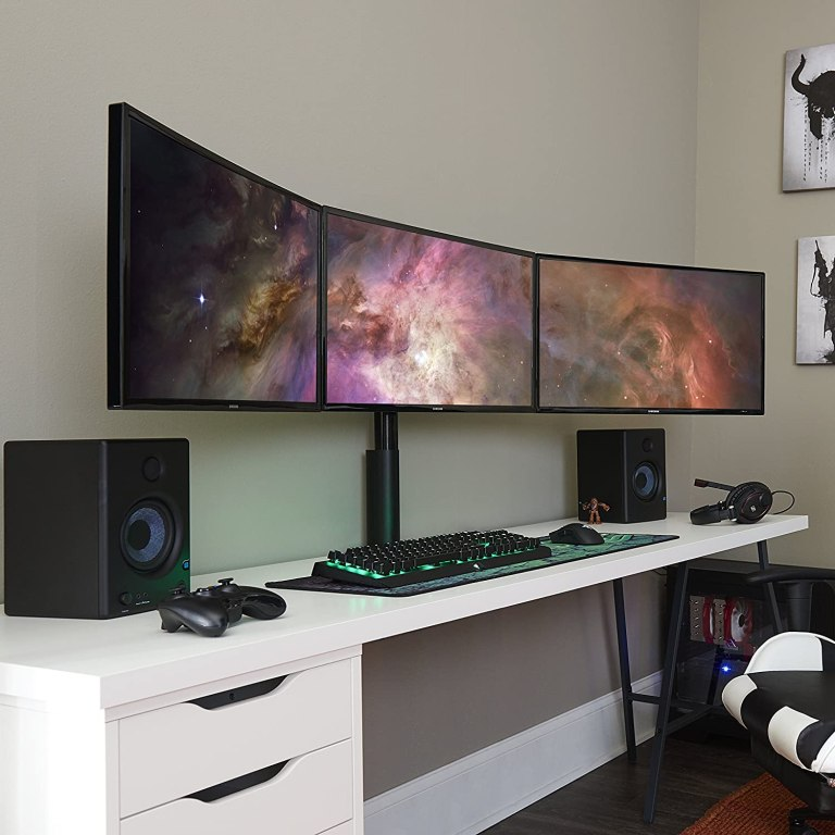 10 Best Triple Monitor Stands (2021 Review)