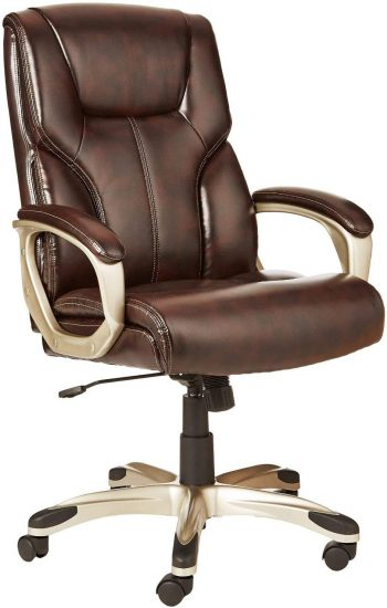 AmazonBasics High-Back, Leather Executive