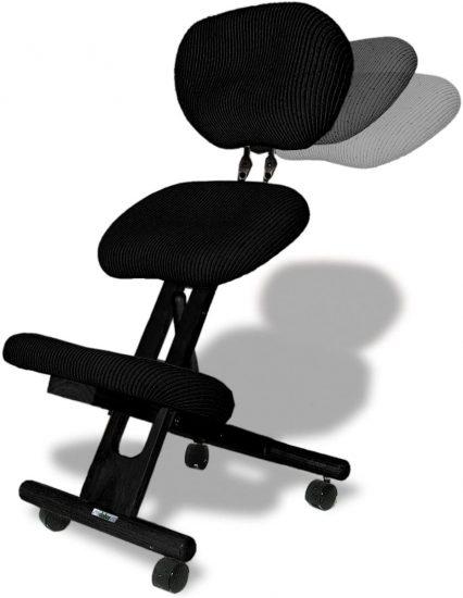 CINIUS Professional Ergonomic Wooden Height-Adjustable Kneeling Chair