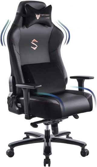 FANTASYLAB Big and Tall 400lb Massage Memory Foam Gaming Chair