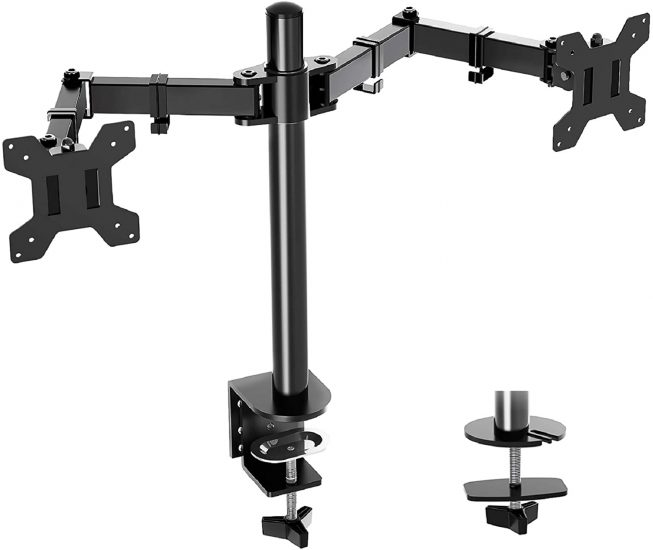 MOUNTUP Dual Monitor Desk Mount Stand