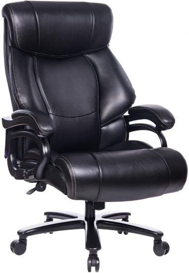 REFICCER High Back Leather Office Chair