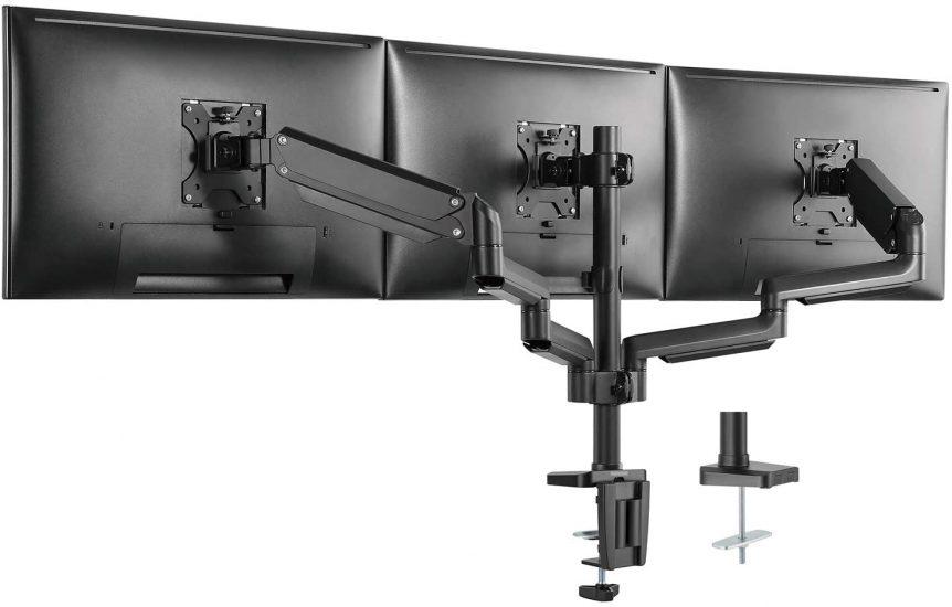 WALI GSDM003 Premium Triple LCD Monitor Desk Mount