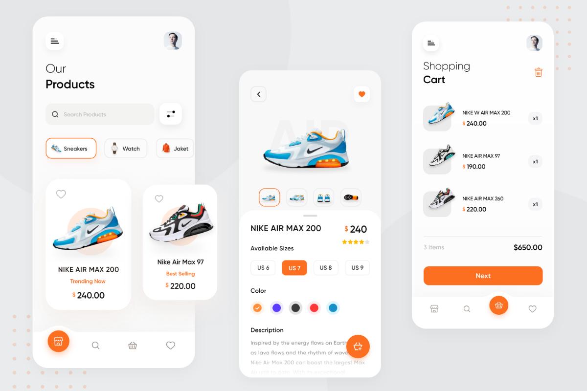 Flutter E-Commerce App UI
