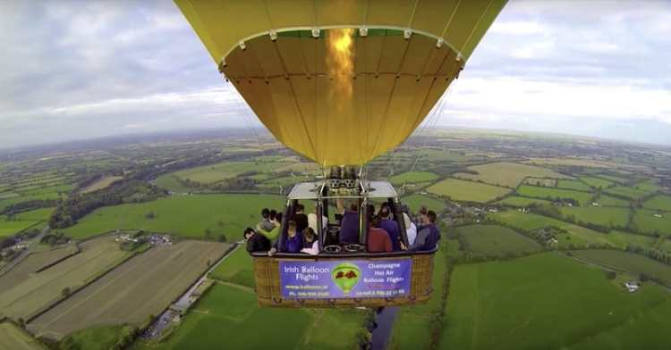 hot air baloon rides near dublin
