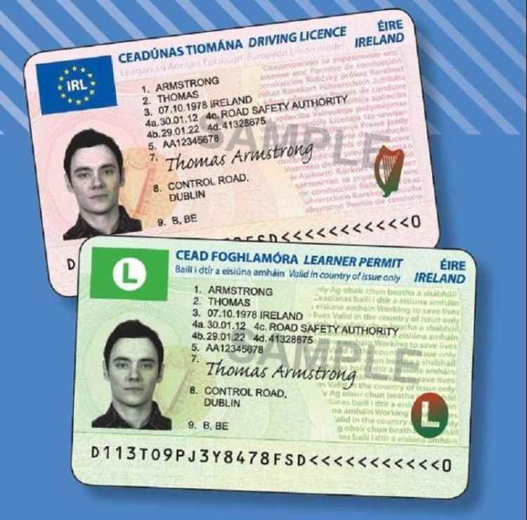 Picture of Driver's License ireland