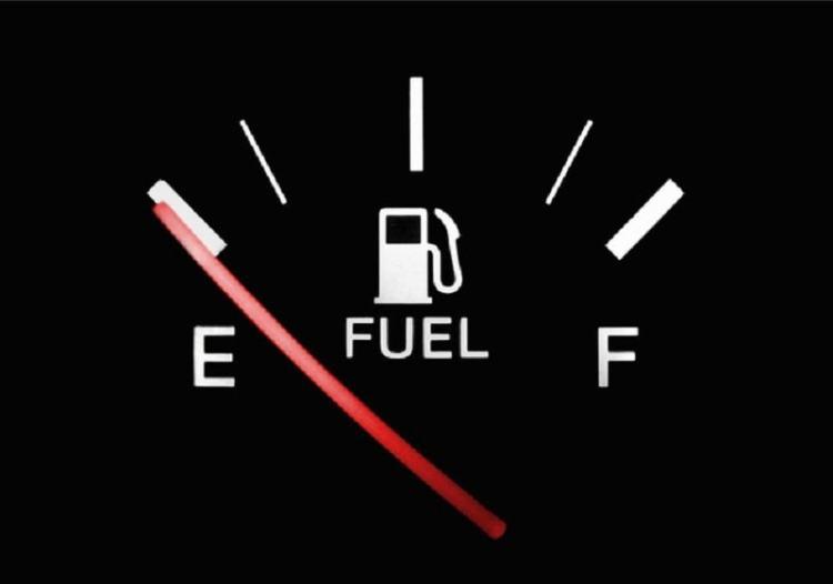 Picture of fuel meter