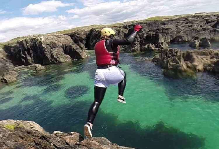 image of Coasteering
