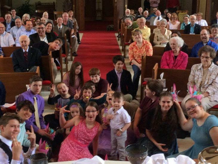congregation, group photo
