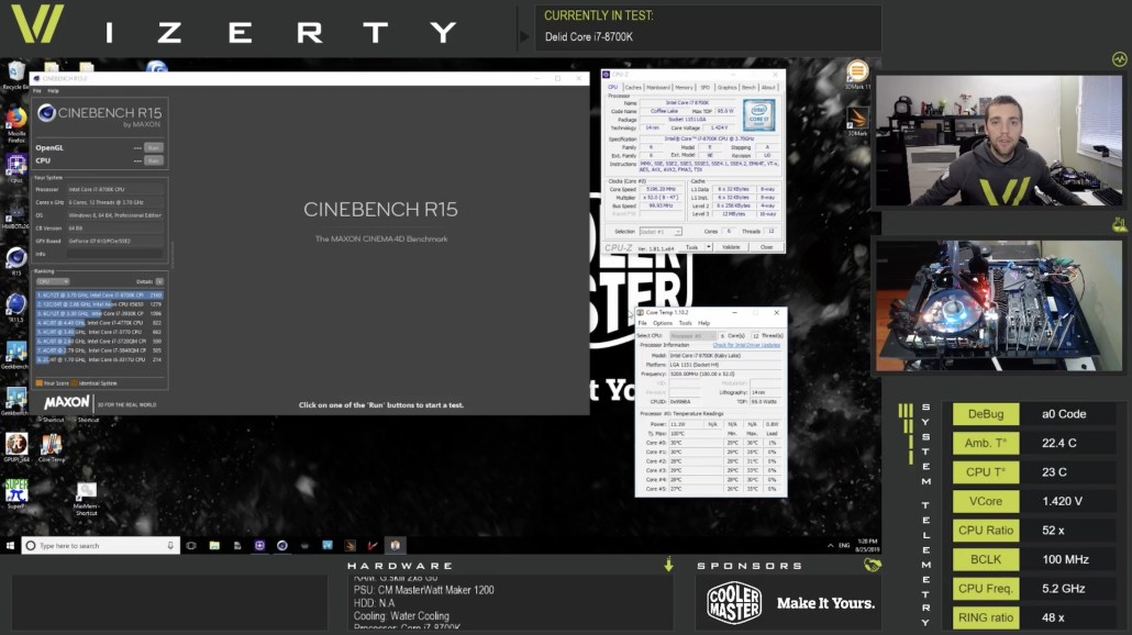 French overclocker wizerty uses overlay.live and telemetry to display realtime date on his stream