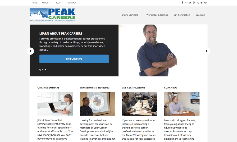 Peak Careers provides professional development for career practitioners through a variety of mediums.