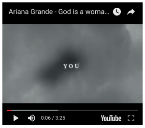 The video is resized in the center of a black square, leaving large black boxes above and below the video.