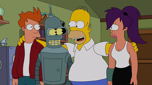 """THE SIMPSONS Meets """"Futurama"""" in a Special Crossover Episode!"""