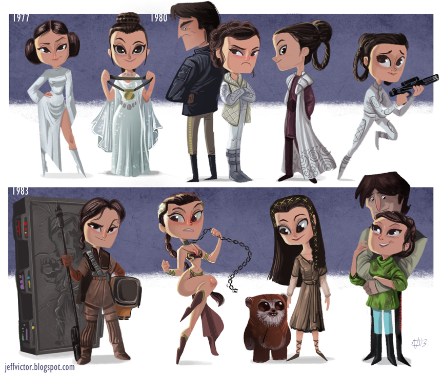 The Adorable Star Wars Art Of Jeff Victor Overmental