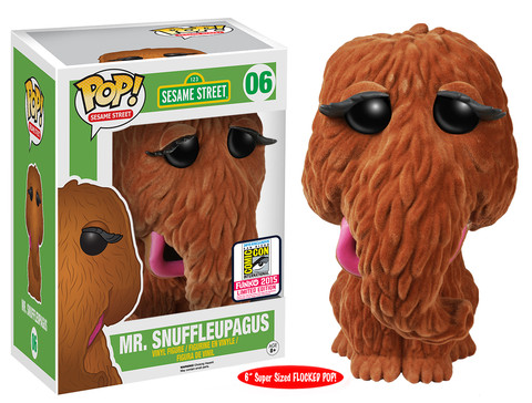 Sesame Street - 6 Flocked Mr. Snuffleupagus