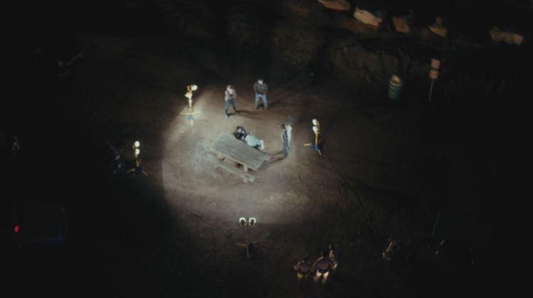 true detective aerial group shot
