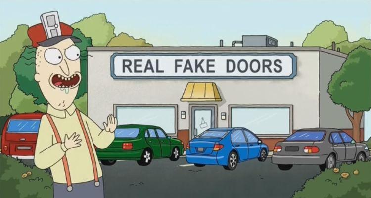 rick and morty - real fake doors