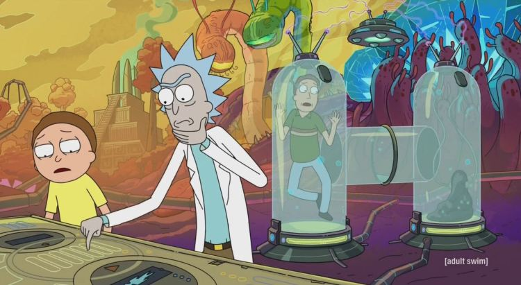 rick and morty - test tubes