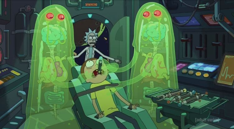 rick and morty - translucent aliens