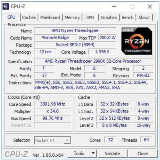 AMD Ryzen Threadripper 2990X тест